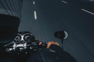 POV of a motorcycle rider on a Halifax highway - Motorcycle Accident Lawyer