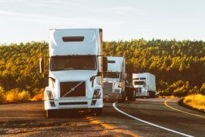 Semis pulled over on the side of a Canada highway - Truck Accident Lawyer Image
