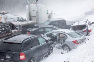 winter car accident in a Nova Scotia snowstorm